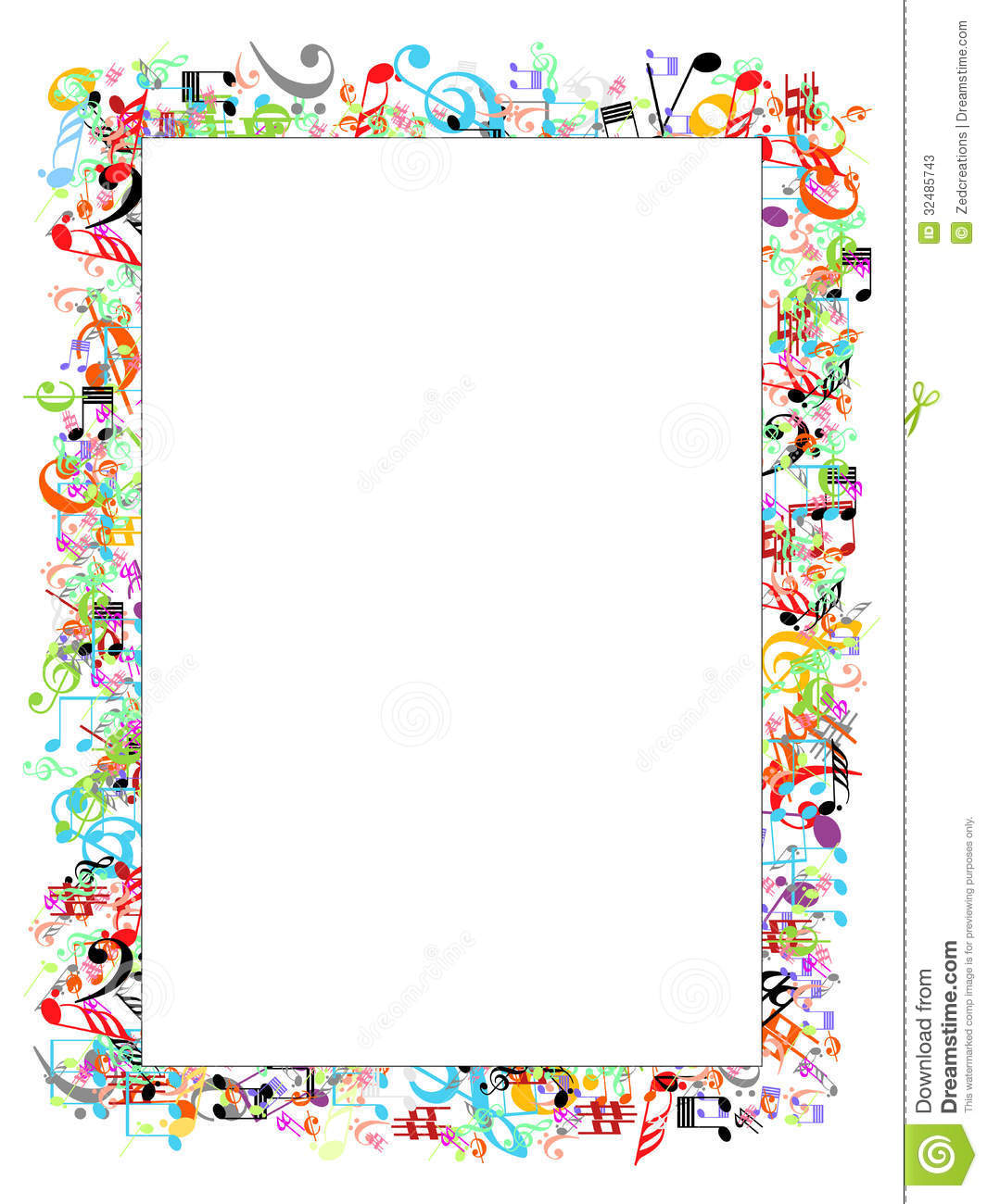 music borders and frames clipart - Clipground