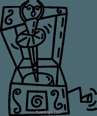 music box Royalty Free Vector Clip Art illustration.