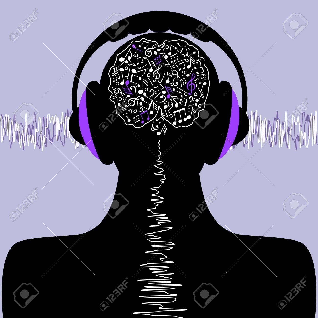 Music Brain Clipart.