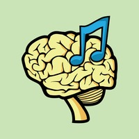 Free Brain music therapy concept Vector Image.