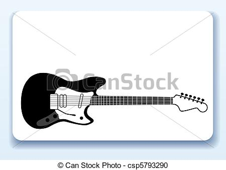 Vector Clipart of Musicians business card.