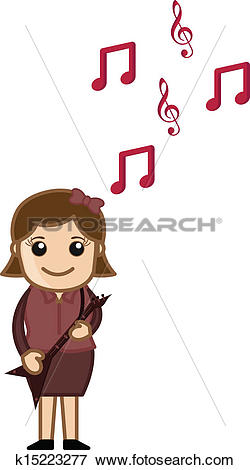 Clip Art of Playing Music.