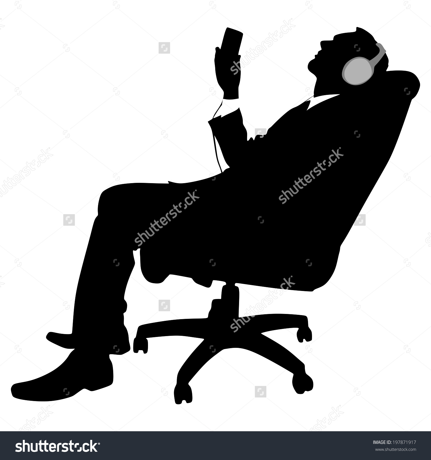 Listen to Music Clip Art Relaxing.