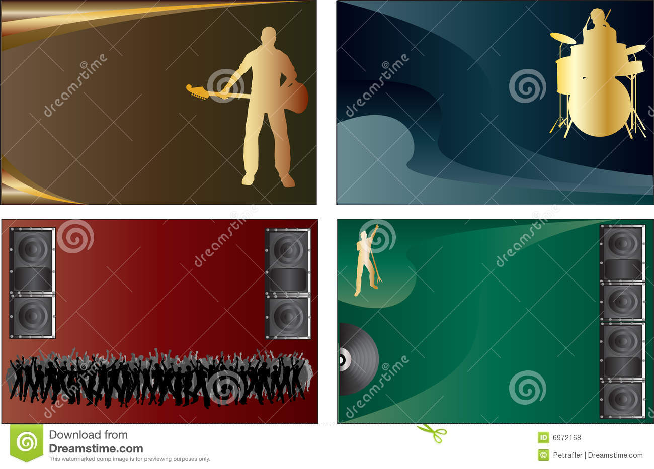Music Business Cards Royalty Free Stock Photos.