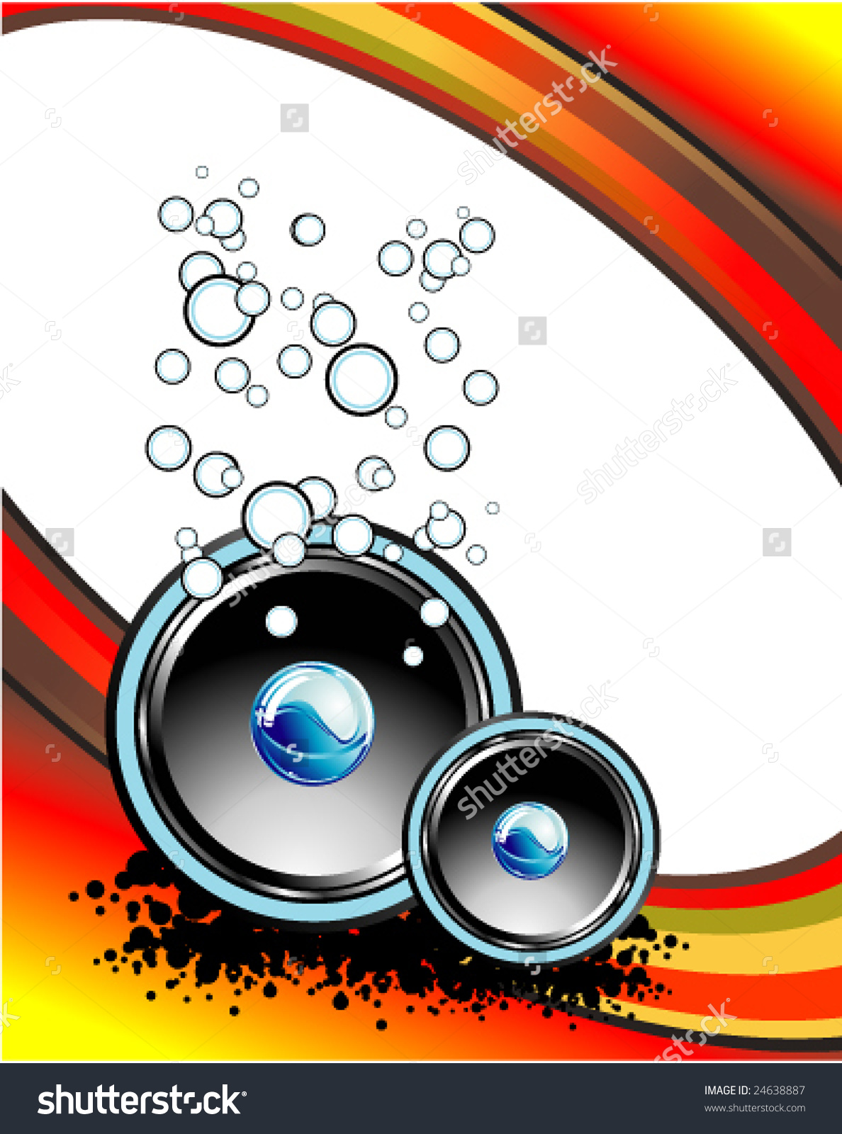Vector Abstract Music Business Card With Fantasy Elements.