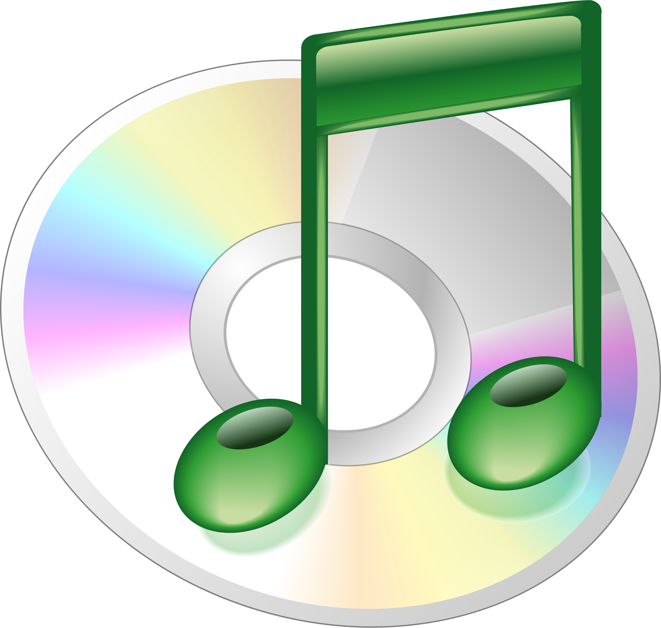 Cd music clipart.