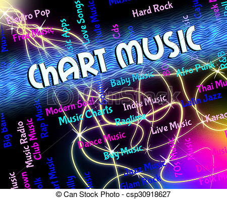 Clip Art of Chart Music Shows Sound Tracks And Audio.