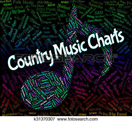 Stock Illustration of Country Music Charts Shows Best Seller And.