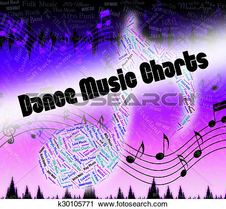 Clipart of Dance Music Charts Means Sound Tracks And Disco.