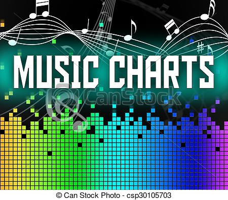 Stock Illustration of Chart Music Represents Sound Track And.