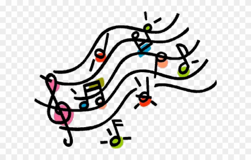 Drawn Music Notes Cartoon.