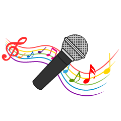 Free Microphone and Cute Note Clipart Image|Illustoon.