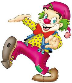 Happy Clown Clip Art.