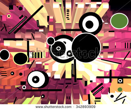 Musical Abstract Collage Vector Illustration Musical Stock Vector.