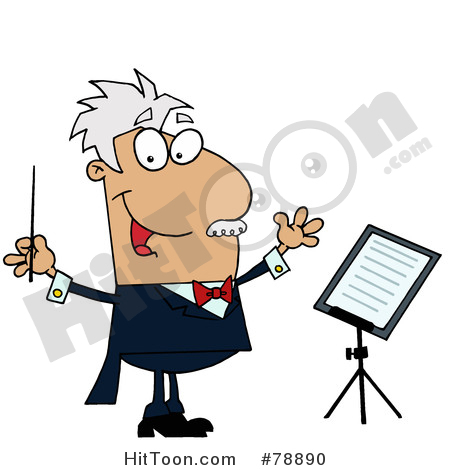 Conductor Clipart #78890: Tan Cartoon Music Conductor Man by Hit Toon.