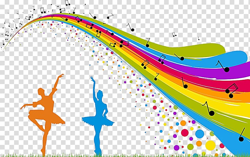 Dance Music, Ballet Competition transparent background PNG.