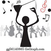 Music Director Clip Art.