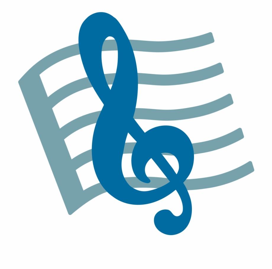 Transparent Music Note Emoji Musical Score Emoji.