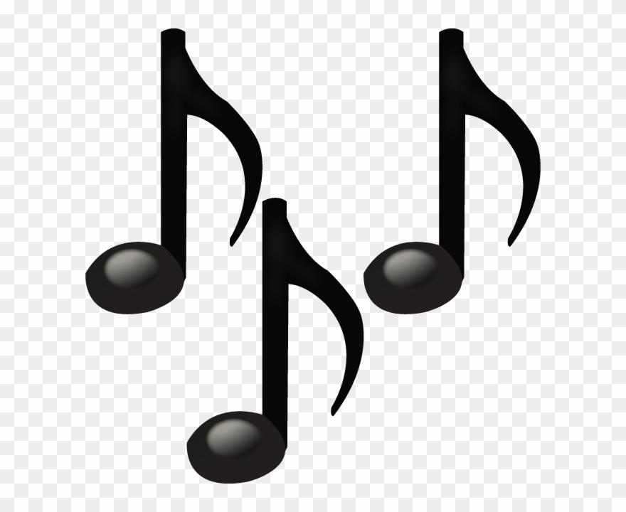 Download Musical Notes Emoji Emoji Island Black And.