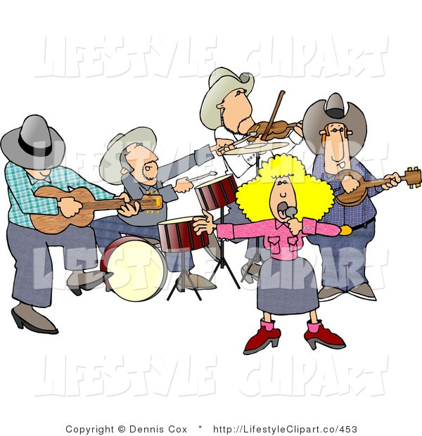 Country Band Clipart.