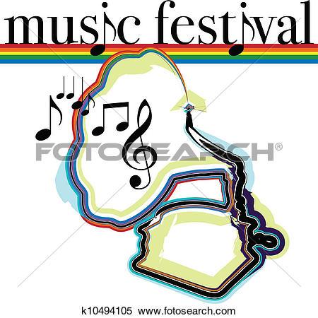 Clipart of Music festival k10487552.