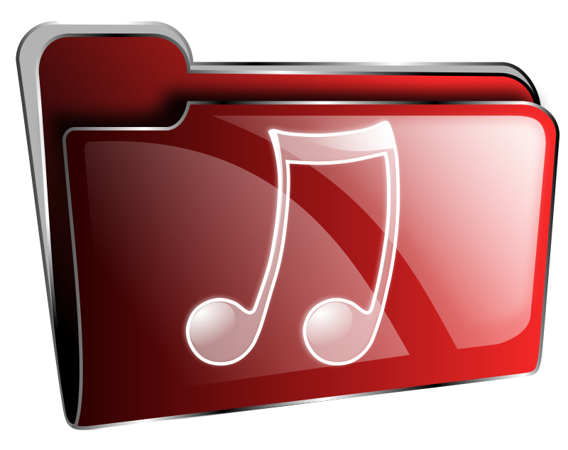 Free Clipart: Folder icon red music.