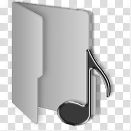 Windows Clean Gray Folders, music folder icon transparent.