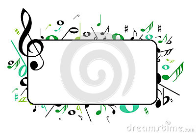 Music Frame Stock Vector.