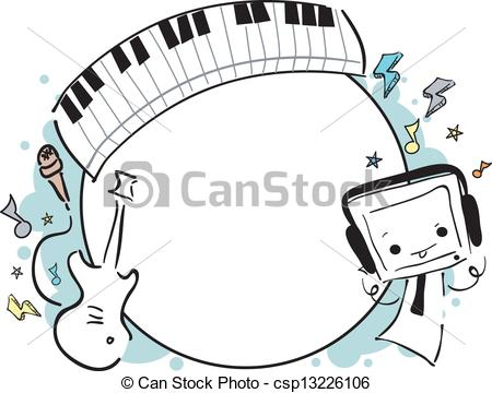 Music frame Vector Clip Art EPS Images. 10,086 Music frame clipart.