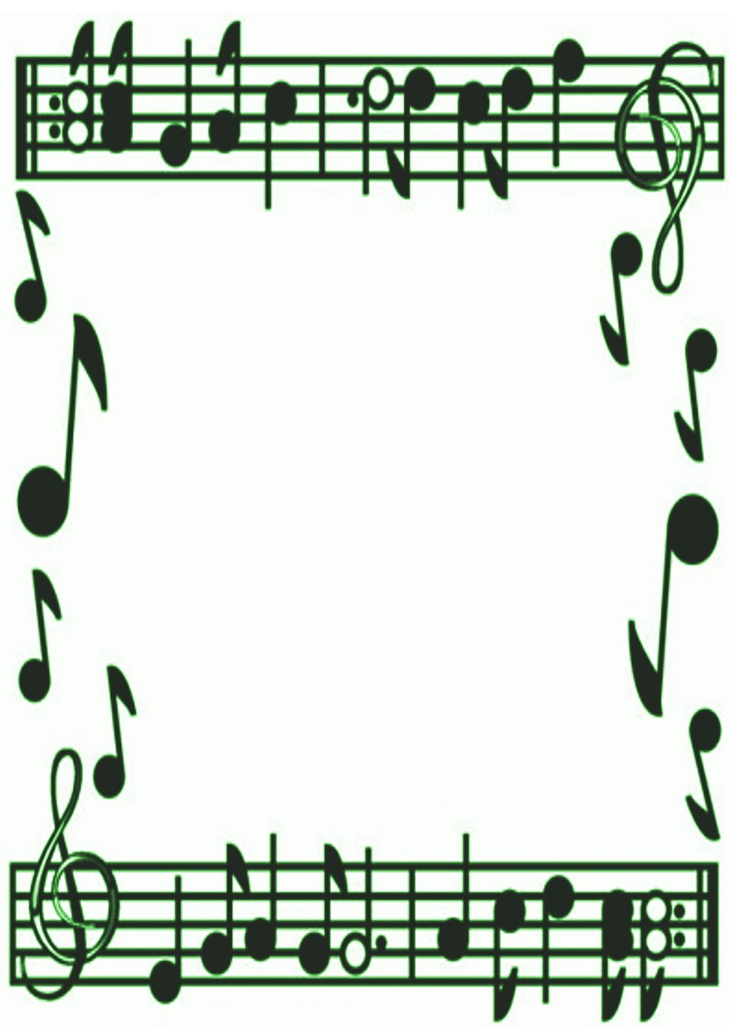 Music Notes Borders Frames Free.