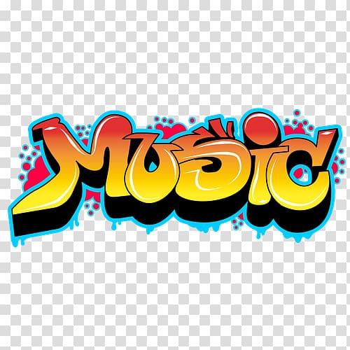 Yellow Music illustration, Graffiti Drawing Music Hip hop.
