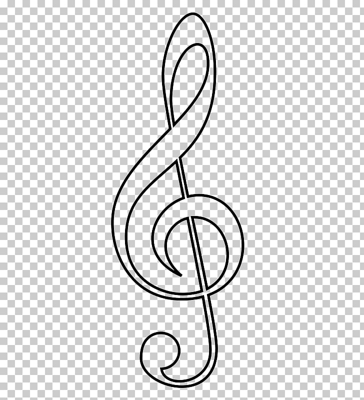 Clef Treble Musical note Sheet Music, graffiti style PNG.