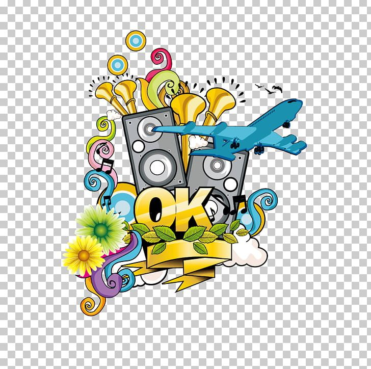 Graffiti Poster Music Sticker PNG, Clipart, Aircraft.
