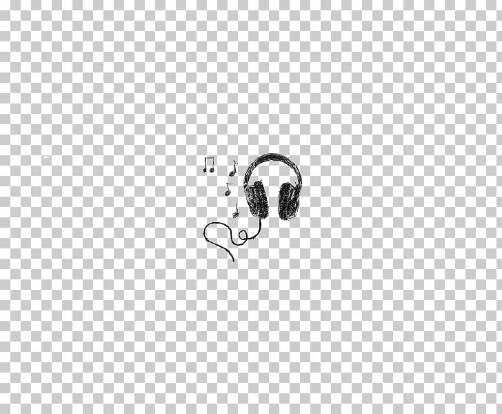 White Logo Pattern, Music Headphones PNG clipart.
