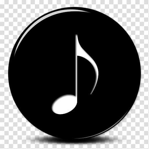 Black and white musical note , Musical note Computer Icons.