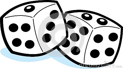 Clip Art Dice Singles And Rows Stock Photography.