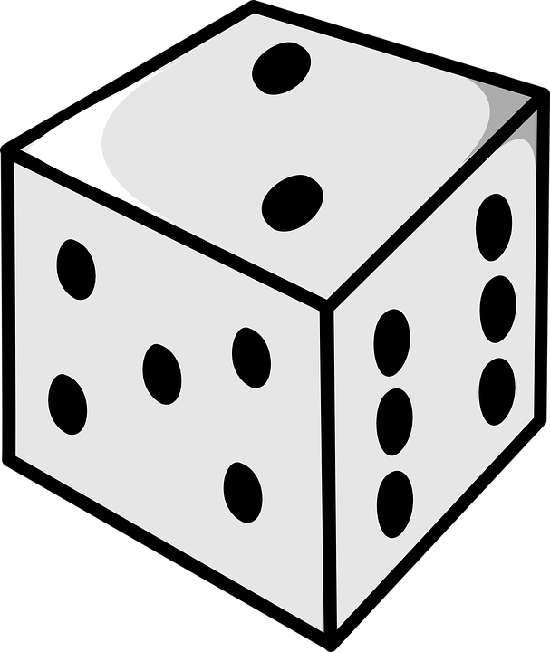 Free vector graphic: Dice, Numbers, Roll, Two, Gamble.