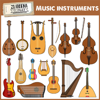 Musical Instruments Clip Art.