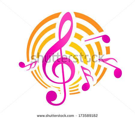 Music Logo Vector Musical Key Note Stock Vector 252331825.