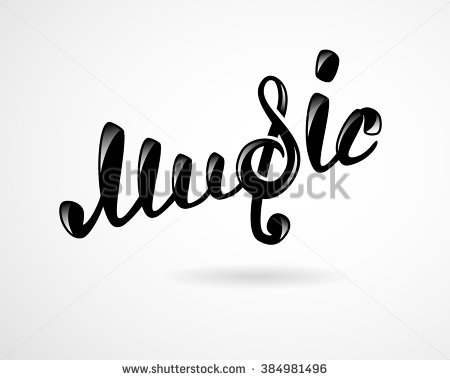 Vector Images, Illustrations and Cliparts: Music logo on white.