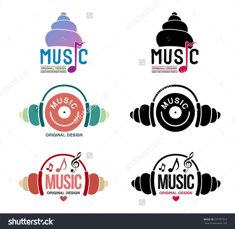 Music Icon Retro Style Logo Templates Stock Vector 333797312.
