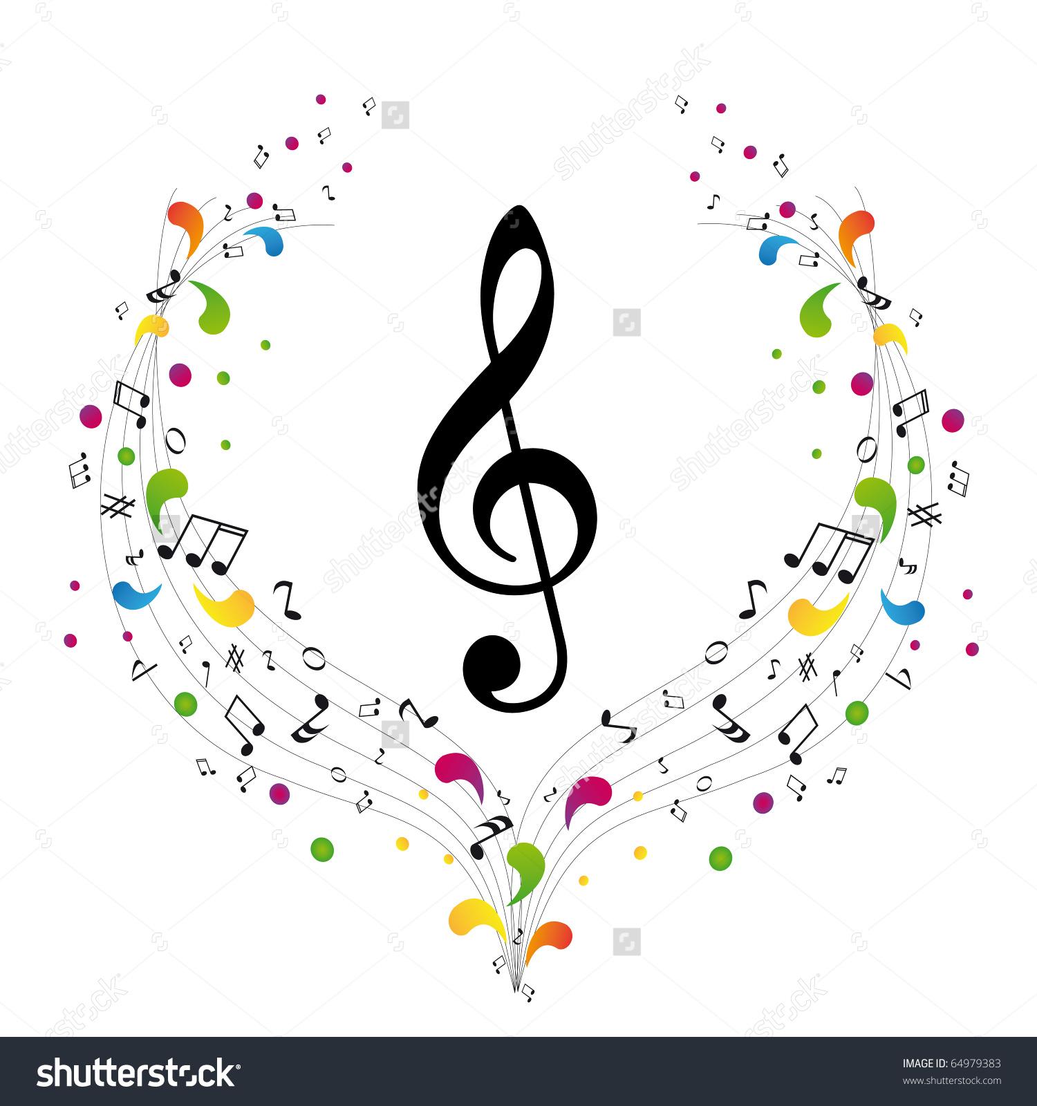 Music Logo Treble Clef Notes Stock Vector 64979383.