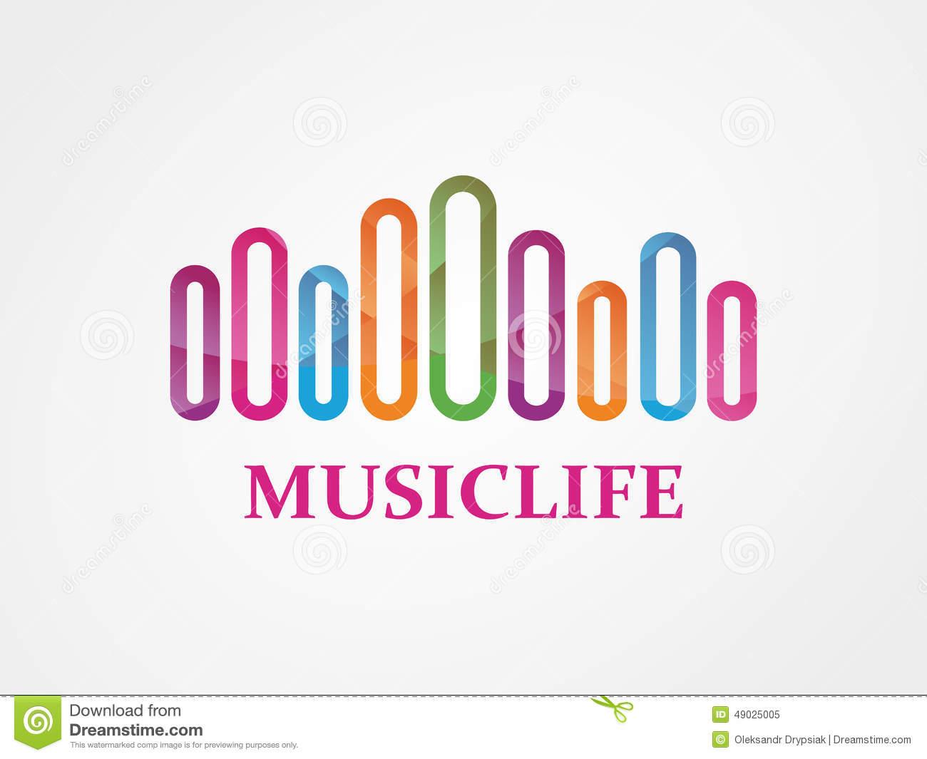 Vector Music Logo Stock Vector.