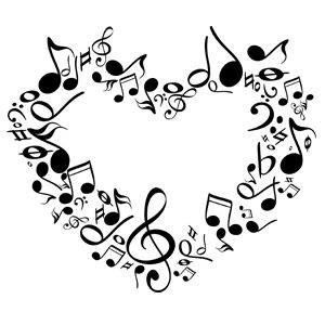 Music Note Heart Clipart Musical notes of a heart.