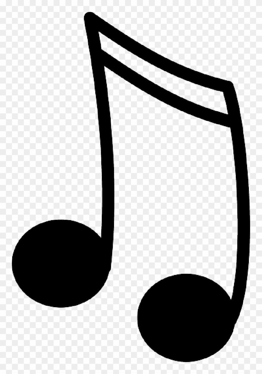 15 Black Music Note Icon Image.
