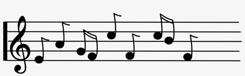 Banner Black And White Free Music Note Clipart.