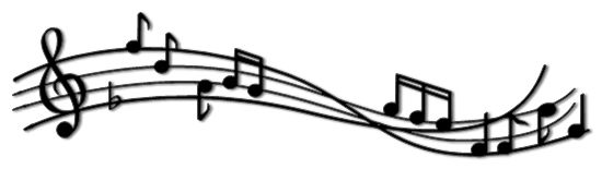 Music Notes Border Clipart.