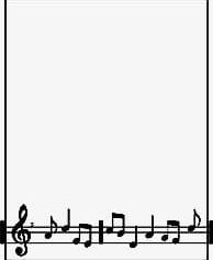 Black And White Musical Notes Border PNG, Clipart, Black.