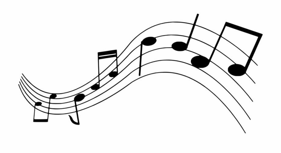 Silhouette Musical Note Clef Bass Treble Music.