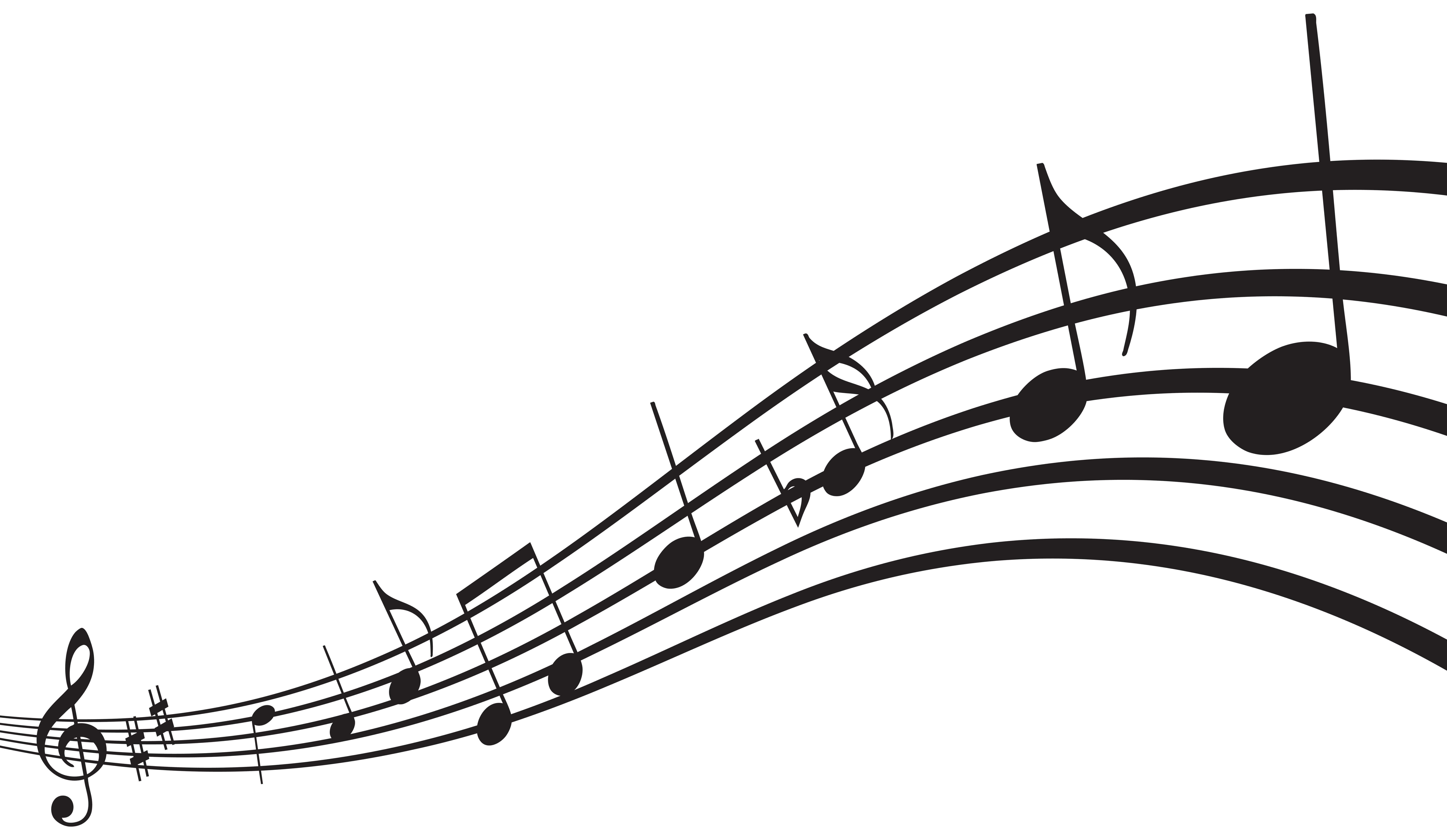 Music Notes PNG Clip Art Image.